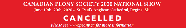 Canadian Peony Society 2020 Show Cancelled